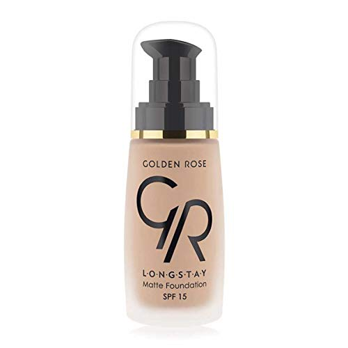 Matte Long Wear Oil Free Foundation with SPF 15#08 - Honey by Golden Rose