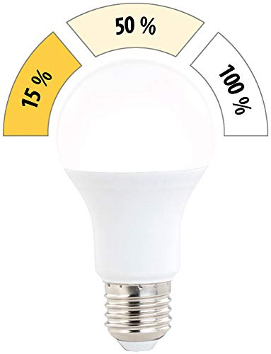 Luminea LED Lampe dimmbar: LED-Lampe mit 3 Helligkeitsstufen, 14 W, 1400 lm, E27, warmweiß, A60 (Sparlampen)