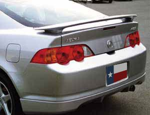 Spoiler for an Acura RSX Factory Style Spoiler 2002-2006-Milano Red Paint Code: R81