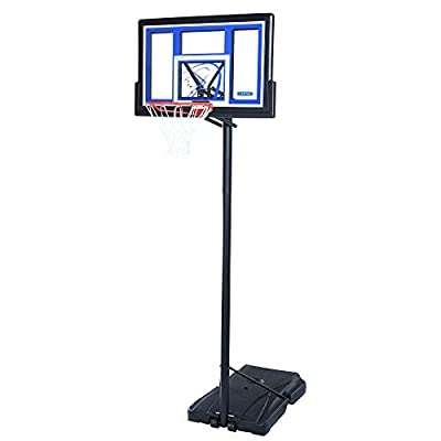 Lifetime 1479 Courtside Height-Adjustable 48in Shatter Guard Fusion Backboard Portable Basketball System