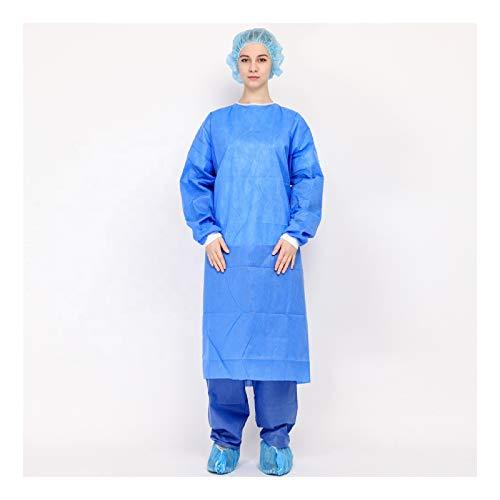 Clinix Hygene Salute Isolamento Monouso Abiti Non Chirurgico Abito Di Protezione Di Sicurezza Non Tessuto Vestito Isolamento Abbigliamento Unisex, 35 GSM, Livello 2 Abito CHL-NSGOWN-L2XL