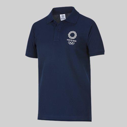 東京2020 オリンピック エンブレム ポロシャツ ネイビー (L)