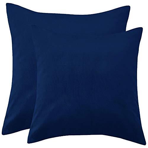 YAVO-EU Kissenbezug,2 PCS Verstecktem Reißverschluss Kissenbezug Kissenbezug aus Gestreiftem Cord Kissenbezüge Corn Sofakissen,für Zuhause Dekorative Couch Sofa (Navy Blue)