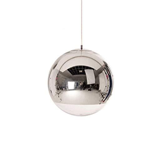 Metal y vidrio Colgante Luz Moderna Creativa Lámpara esférica Lámpara de araña Colgando E27 Fuente de luz Iluminación de techo Fixture AC110V - 240V Silver [Clase de energía A ++]