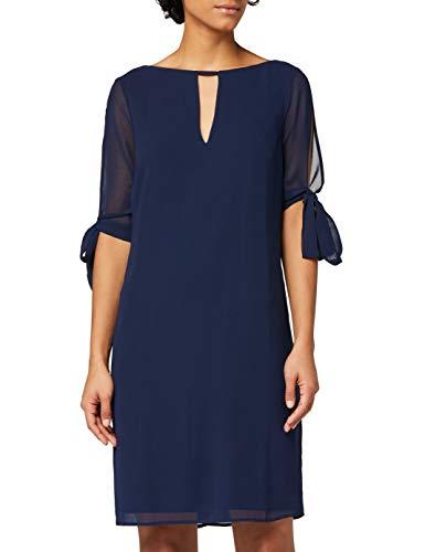 Marchio Amazon - TRUTH & FABLE Vestito A-Line in Chiffon Donna, Blu (Blue), 48, Label: XL