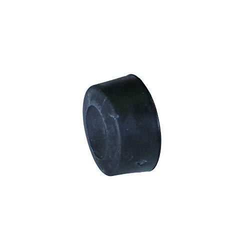 Tampon de butée en caoutchouc noir.