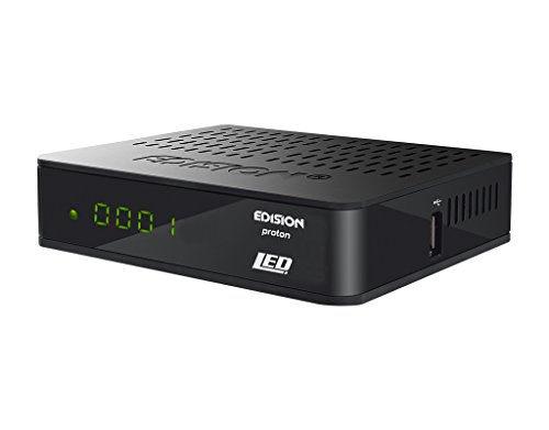 EDISION Proton LED Full HD FTA HDTV DVB-S2 Satelliten-Receiver (HDMI, SCART, USB 2.0, LED Display) Astra 19,2 vorprogrammiert schwarz
