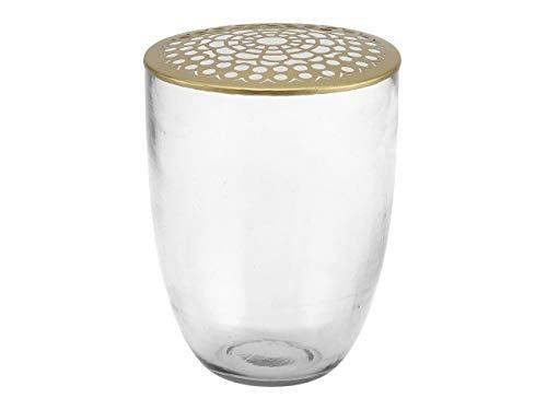 A simpele Mess - vaas/bloemenvaas - Kaysa - glas/koper - hoogte 15 cm - Ø14,0 cm