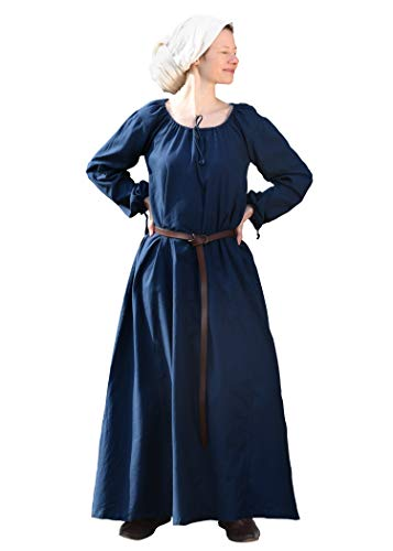Battle-Merchant Mittelalterkleid Ana - blau M - Wikingerkleid - Mittelalter Kleid - Wikinger - LARP …