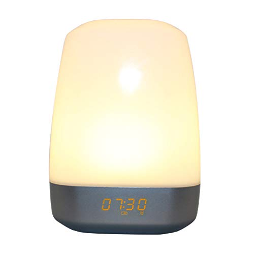 JTYX wakker licht LED 7 kleuren sfeerverlichting nachtlampje multifunctionele wekker