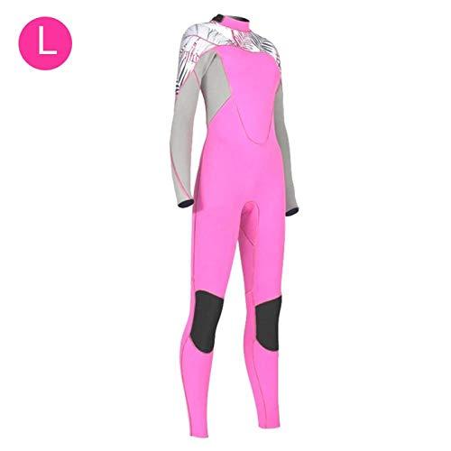 El traje de baño evita la temperatura de bloqueo cómoda elástica alta fría para bucear(L)
