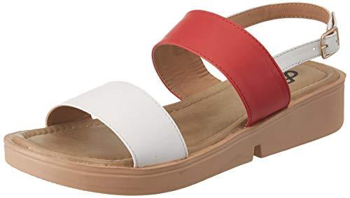 Flavia Women's Peach Fashion Sandals-6 UK (38 EU) (7 US) (FL/231/PCH)