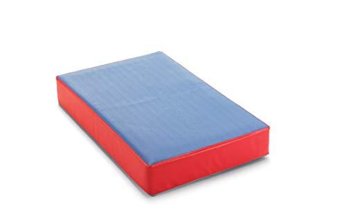 traturio Colchón hinchable para interior y exterior en bonitos colores para todos los saltadores pequeños, 107 x 70 x 17 cm (exterior azul/rojo, 107)
