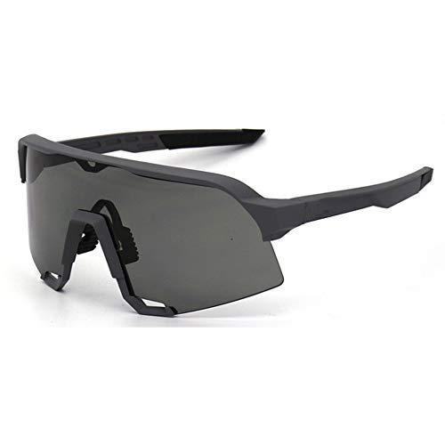 Occhiali da Bicicletta Uomo Donna Sport Occhiali da Strada Bici da Corsa in Sella A Occhiali da Bici S3 UV400 Occhiali da Bici , Nero Opaco occhiali mtb uomo donna