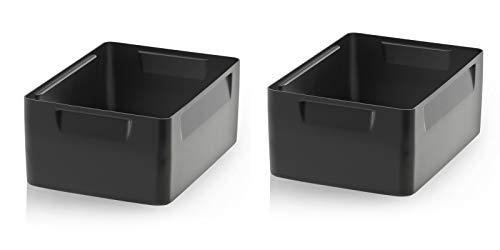 Einsatzkästen 2er Set 10cm Höhe für Auer Eurobehälter 40x30 * Einsatz Kästen Einsätze schwarz