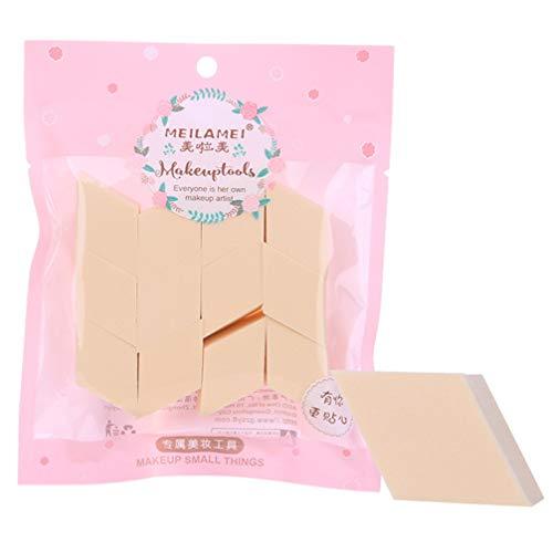 Beaupretty 2 Sacs / 24 Pcs Visage Maquillage Éponge Portable en Forme de Diamant Bouffée Cosmétique Crème pour Le Visage Poudre Mélangeur Visage Nettoyant Éponge pour Femmes Dames