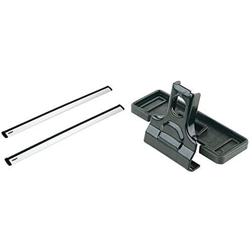 Thule 1205245 Barre Portatutto, Alluminio, 118 Cm & 183164 Kit Di Fissaggio Fixpoint Xt 3164