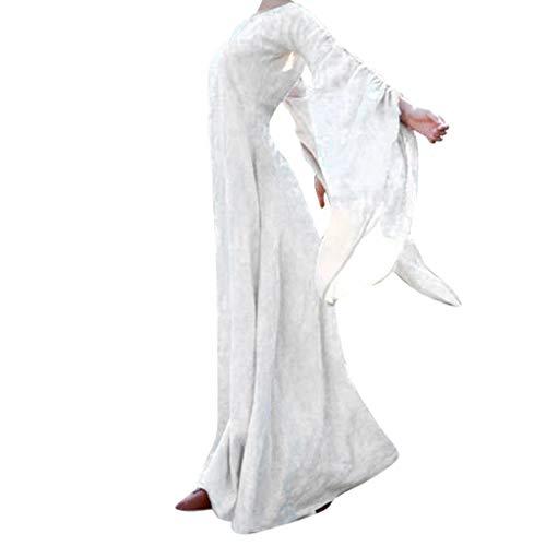 Halloween Kleid pitashe Halloween Retro Abendkleid Knielang, Langarm Druck, 50er Audrey Hepburn Vintage Kleid Rockabilly Petticoat Kleide Kleider Halloween Karneval Kostüm Festlich Mini Cocktailkleid