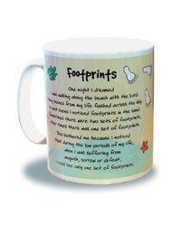 Mug Motif empreintes de pieds