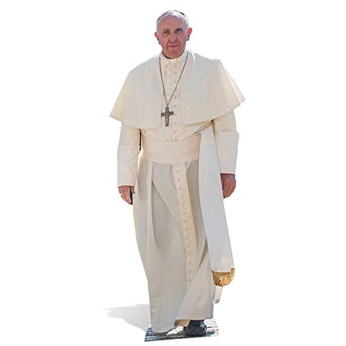 Star Cutouts, Pope Francis, Cardboard Cutout Standup, Historical Religious Life-Size Stand-In - 69' x 29'