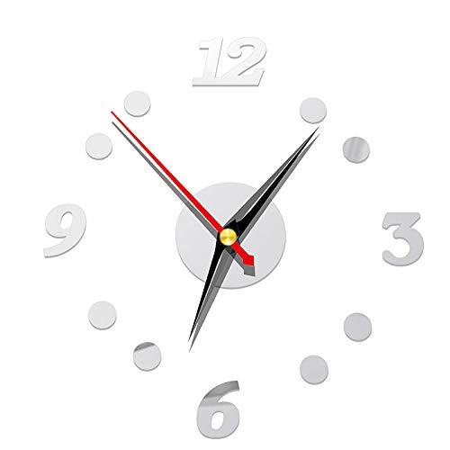 ASOSMOS DIY Clock Style Wandaufkleber Stumm Uhr Wandkunst Aufkleber für Home Office Neu