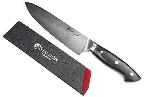 Stallion Professional Messer Kochmesser 20 cm - Klinge aus deutschem 1.4116 Messerstahl und Griff aus G10 GFK