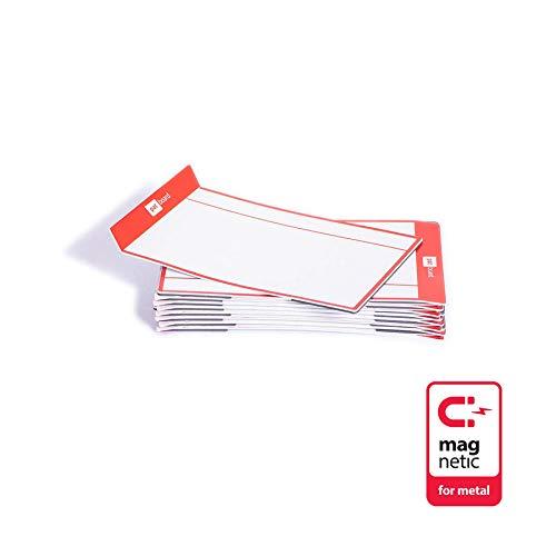 PATboard Scrum Board und Kanban Tafel Task Cards - 16 Magnetische Haftnotizen - M (mittel) - Rot