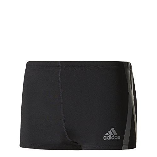 adidas Herren Graphic Boxer-Badehose, Black/Msilve, 4