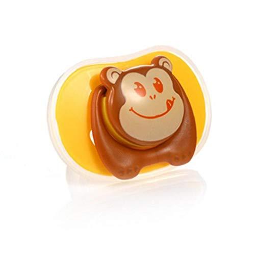 tJexePYK Patrón 1pc bebé Chupete Chupete de Silicona Libre de BPA bebé Chupete Chupete cartón Blando Infantil para bebés de 0-18 Meses de Edad (Pulgar y la Forma Principal Azul Ronda)