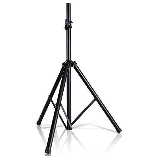 Pyle Universal Speaker Stand Mount Holder-Heavy Duty Tripod w/ Adjustable Height PSTND2 (Renewed)