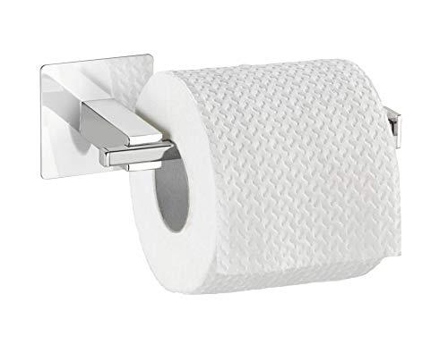 WENKO Turbo-Loc® Edelstahl Toilettenpapierhalter ohne Deckel Quadro
