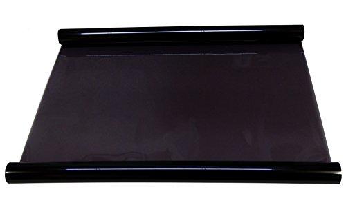 Aerzetix - 3m Pellicola oscurante per vetri auto 25% nero 75cm.