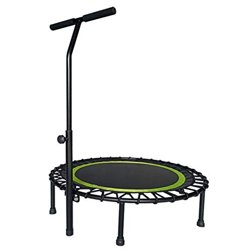 Rebounder Trampoline for Adults Bungee Trampoline Exercise Rebounder Workout Jumper with Stability Bar Bungee Bed Lean Aerobic Sports Padded Frame Cover Elasticity Lose Weigh Slimming