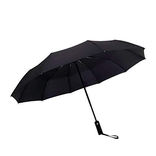 Diez Hueso Paraguas Automático Triple Plegable Vinilo Sun Umbrella Publicidad Hombres y Mujeres