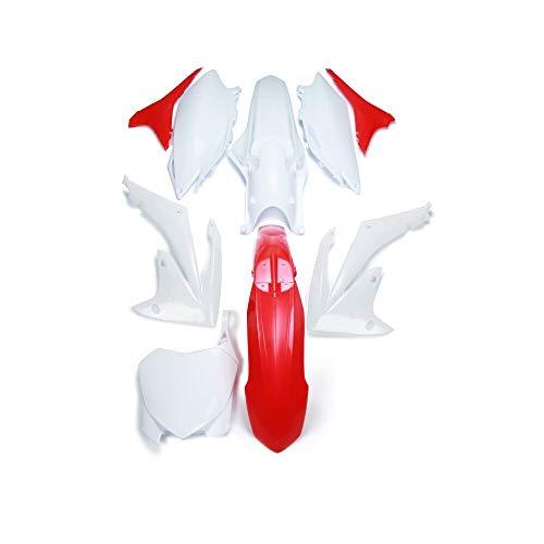 Carenado de plástico ABS Cubierta Lateral del Guardabarros Delantero Trasero Guardabarros Kit de carenado para Honda CRF250R CRF450R CRF 250R 450 R
