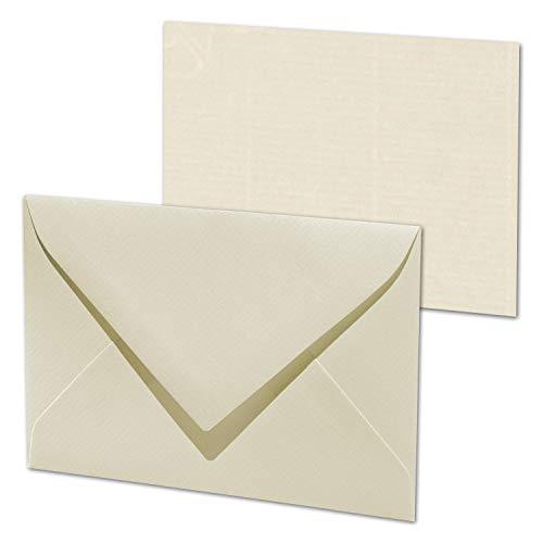 150x ARTOZ A7 kaartenset - mini-kaarten met enveloppen - 6,6 x 10,3 cm - chamois (crème) - cadeauhangers, cadeaubonnen - serie 1001