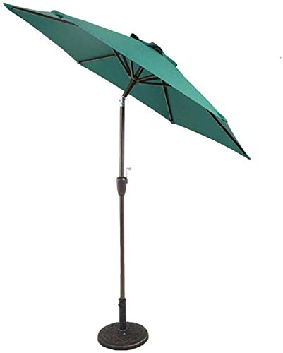 Dstervl Off-white garden parasol for patio/beach/pool ivory 7-foot patio umbrella with sunshade crank and tilt function, sun protection and UV protection