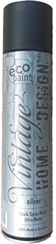 Vintage Kreide Spray silver 400ml Kreidefarbe silber Chalk Paint Shabby Chic Landhaus Stil Vintage Look