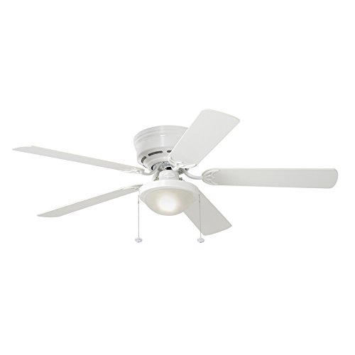 Harbor Breeze Armitage 52-in White Flush Mount Indoor Residential Ceiling Fan with Light Kit