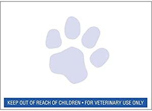 6 rolls Veterinary Prescription Labels with Blue Paw Print & Warning - 400 per roll - Compatible with 30258