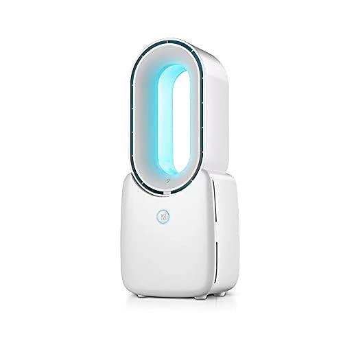 DFGADF Acondicionador LED De Sobremesa, Soporte Portátil Sin Cuchillas Aire Acondicionado Ventilador...