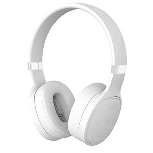 Naisedier Bluetooth Receptor de Cabeza sobre la Oreja los Auriculares estéreo de HD Auriculares inalámbricos para Running Blanca del Viaje de VJ087 Funcionamiento Gimnasia