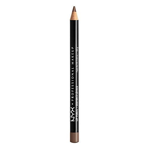 NYX PROFESSIONAL MAKEUP Slim Lip Pencil, Long-Lasting Creamy Lip Liner - Espresso