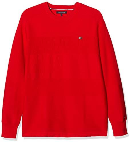 Tommy Hilfiger Jungen Tommy Flag Sweater Sweatshirt, Rot (Deep Crimson 106-880 Xnl), One Size (Herstellergröße: 92)
