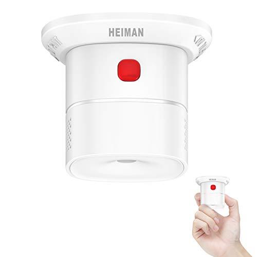 HEIMAN Mini detector de monóxido de carbono, certificado EN 50291, duración del sensor, botón de prueba, HS1CA