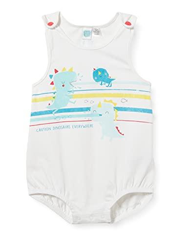 Tuc Tuc Pelele Punto DINOLOCO Mamelucos para bebés y niños pequeños, Blanco, 9-12M