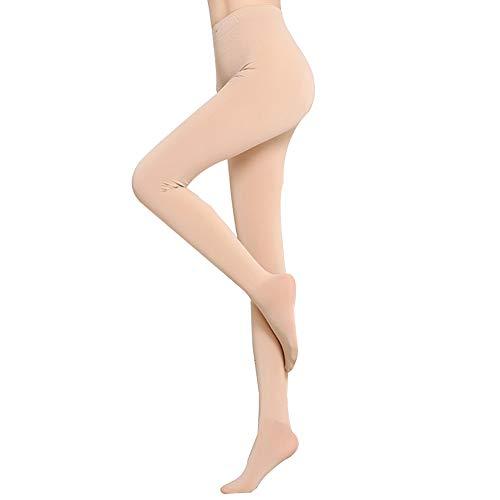 HTTOAR Leggins Termicos Mujer,Leggins Invierno Medias Elásticas de Terciopelo de Cintura Alta para Mujeres Delgadas Talla Europea 32-38 (desnudo-1)