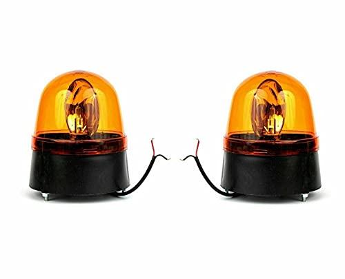 J/J – Juego de 2 focos giratorios universales de 12 a 24 V para vehículos agrícolas o camiones