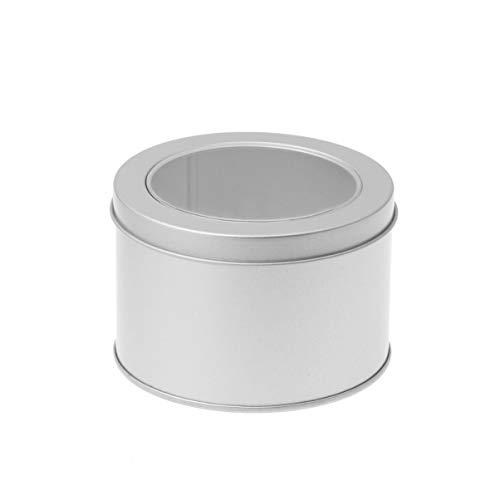 Healifty Scatole di metallo rotonde da 12 pezzi con coperchio scatole di metallo vuote confezione regalo grande per candele da tè caramelle regali custodie regalo tesori