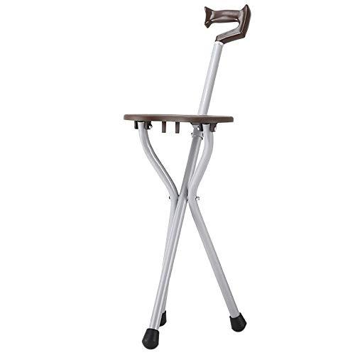 SGSG Trípode de muleta Plegable para sillas de Paseo para Ancianos - Aleación de Aluminio Ajustable con muletas Ligeras para Ancianos 🔥